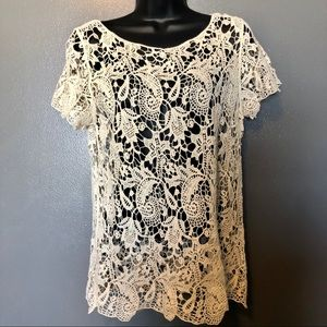 Thick Lace Maurice's Short Sleeve Top Medium